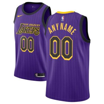 Los Angeles Lakers Nike 2018/19 Swingman Custom Jersey - City Edition - Purple
