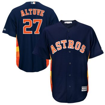 Jose Altuve Houston Astros Majestic Official Cool Base Player Jersey - Navy