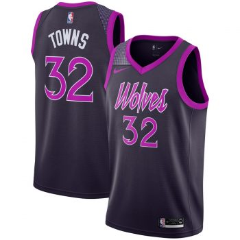 Karl-Anthony Towns Minnesota Timberwolves Nike City Edition Swingman Jersey – Purple