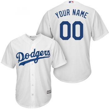 Los Angeles Dodgers Majestic Cool Base Custom Jersey - White