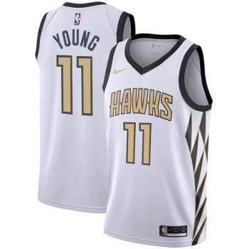 Trae Young Atlanta Hawks Nike City Edition Swingman Jersey – White