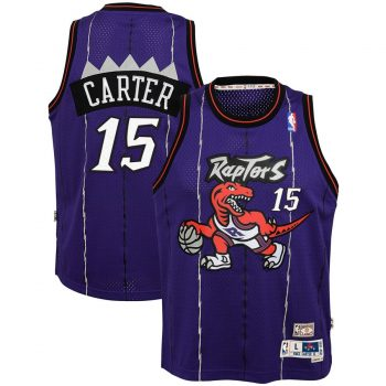Vince Carter Toronto Raptors Mitchell & Ness Youth Hardwood Classics Swingman Throwback Jersey – Purple