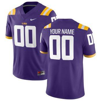 LSU Tigers Nike Football Custom Game Jersey – Purple