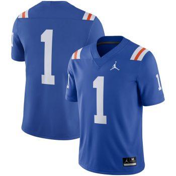 #1 Florida Gators Jordan Brand Throwback Alternate Game Jersey - Royal