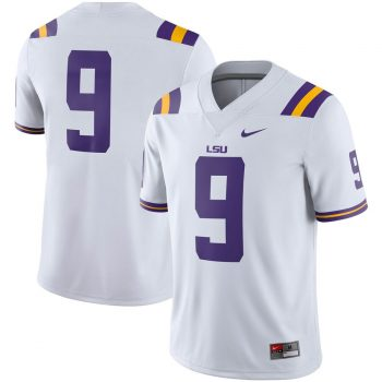#9 LSU Tigers Nike Game Jersey - White