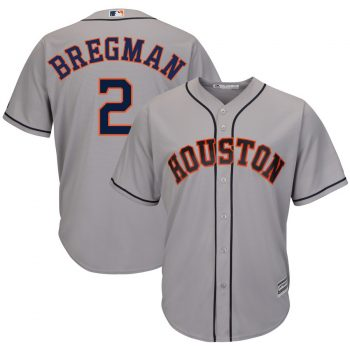 Alex Bregman Houston Astros Majestic Road Official Cool Base Player Jersey – Gray
