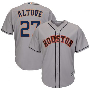 Jose Altuve Houston Astros Majestic Road Official Cool Base Player Jersey – Gray