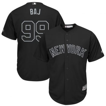 "Aaron Judge ""BAJ"" New York Yankees Majestic 2019 Players' Weekend Replica Player Jersey – Black"