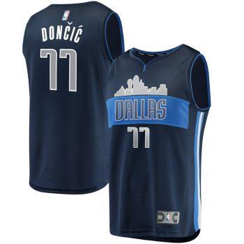 Luka Doncic Dallas Mavericks Fanatics Branded Fast Break Replica Jersey - Statement Edition - Blue